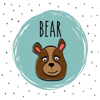 Concepto animal con diseño de icono de dibujos animados
