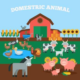Concepto de animales domesticos