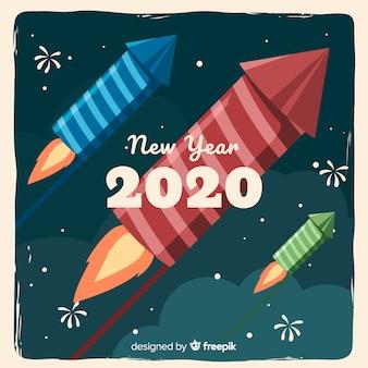Concepto de año nuevo con diseño vintage.
