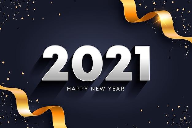 Concepto de año nuevo dorado 2021