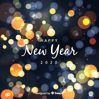 Concepto de año nuevo con efecto bokeh.