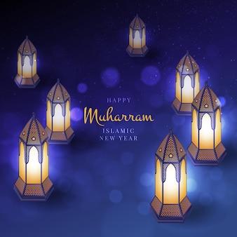 Concepto de año nuevo islámico realista