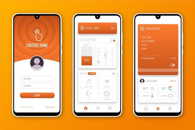 Concepto de aplicación para el hogar inteligente