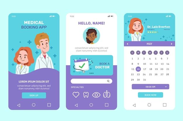Concepto de aplicación médica