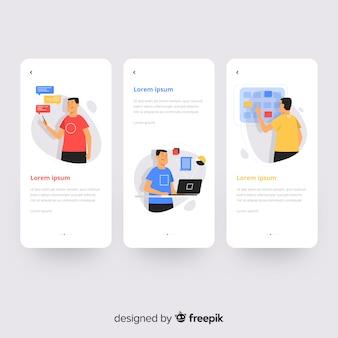 Concepto de aplicación móvil