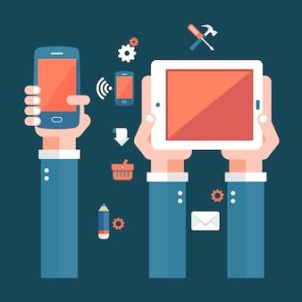Concepto de aplicaciones móviles