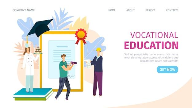 Concepto de aprendizaje de formación de educación profesional