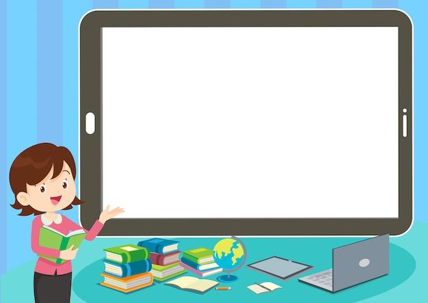 Concepto de aprendizaje en línea para niños