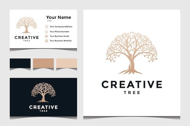 Concepto de árbol para el logotipo de una empresa