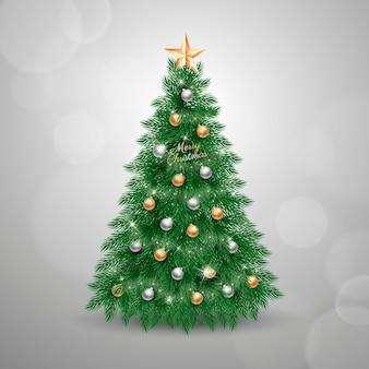 Concepto de árbol de navidad realista