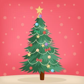 Concepto de árbol de navidad vintage