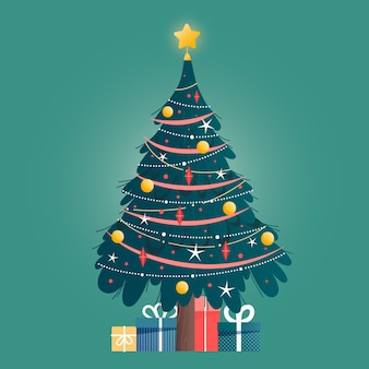Concepto de árbol de navidad