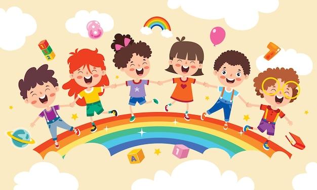 Concepto de un arco iris colorido