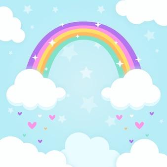 Concepto de arco iris en diseño plano