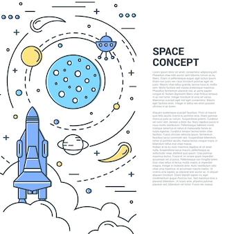 Concepto de arte de línea vertical de espacio