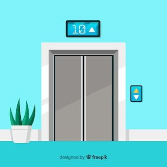 Concepto de ascensor en estilo flat