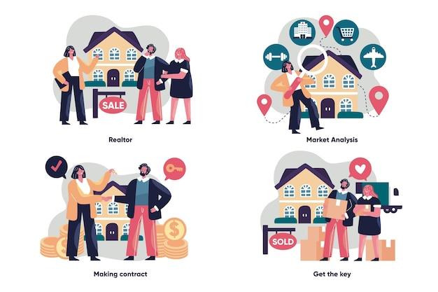 Concepto de asistencia inmobiliaria