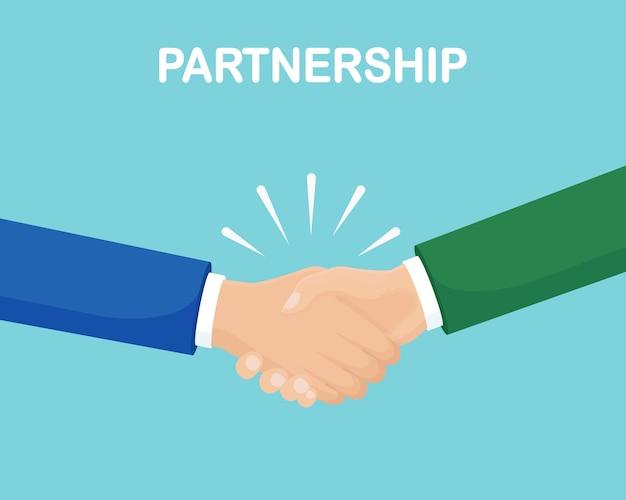 Concepto de asociación empresarial. apretón de manos