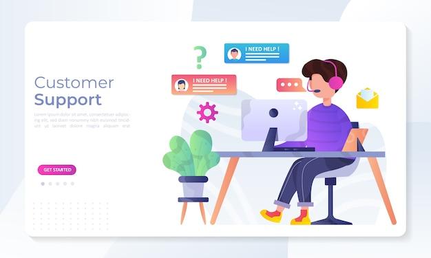 Concepto de atención al cliente