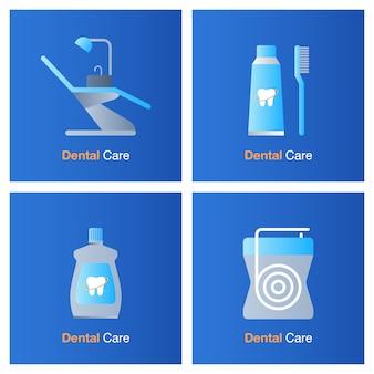 Concepto de atención dental. prevención, chequeo y tratamiento dental.