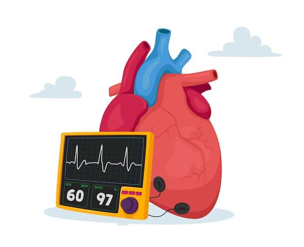 Concepto de aterosclerosis y presión arterial alta en colesterol