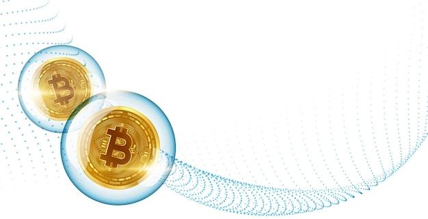 Concepto de auge de la burbuja del mercado de criptomonedas de bitcoin