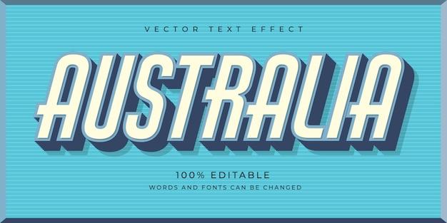 Concepto de australia de efecto de texto editable