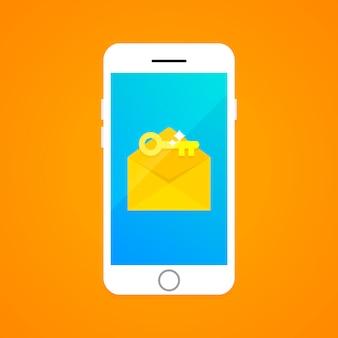 Concepto de autenticación de dos factores a través de sms.