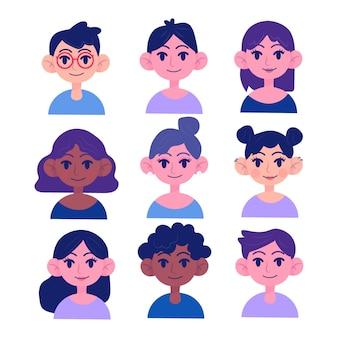 Concepto de avatar de personas para ilustración