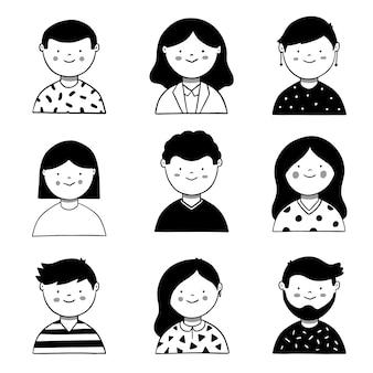 Concepto de avatar de personas ilustrado