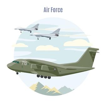 Concepto de aviación militar