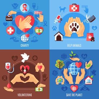 Concepto de ayuda de caridad