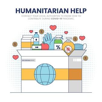 Concepto de ayuda humanitaria