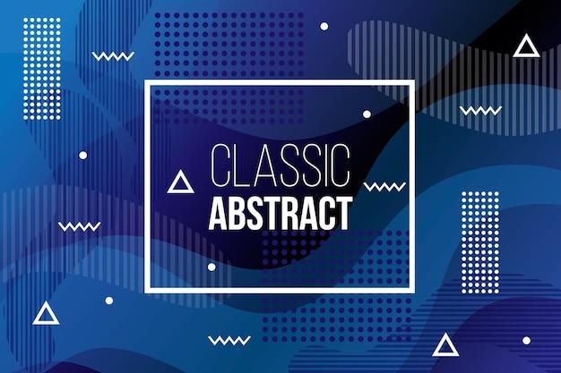 Concepto azul clásico abstracto para el fondo