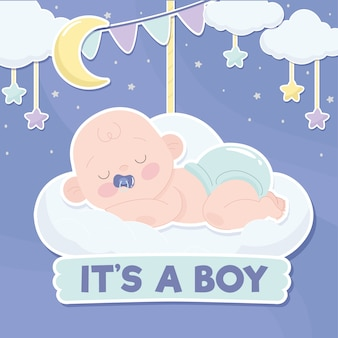 Concepto de baby shower boy