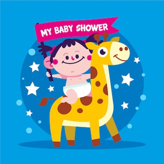 Concepto de baby shower girl