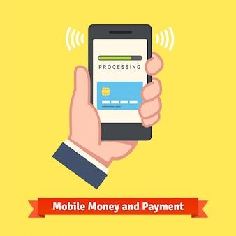 Concepto de banca móvil