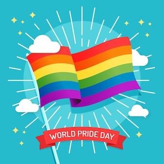 Concepto de bandera del día del orgullo colorido