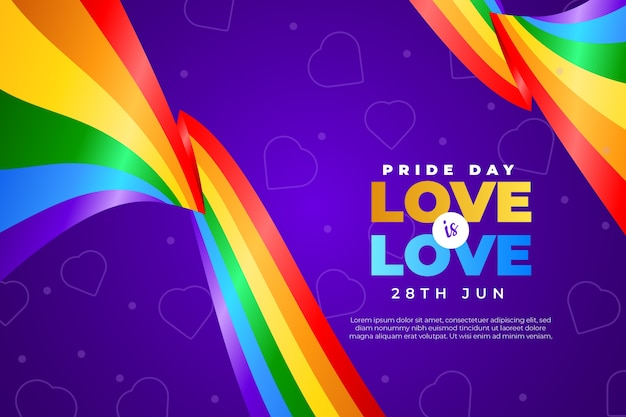 Concepto de bandera del día del orgullo