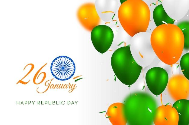 Concepto de bandera india colores del trío del día de la república