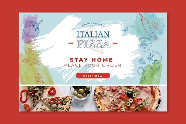 Concepto de banner de comida italiana