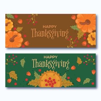 Concepto de banner del día de acción de gracias