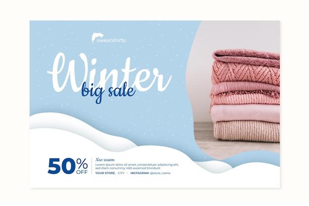 Concepto de banner de invierno