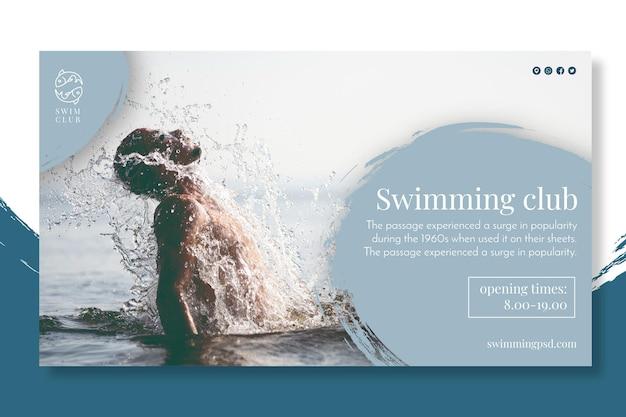 Concepto de banner de lecciones de natación