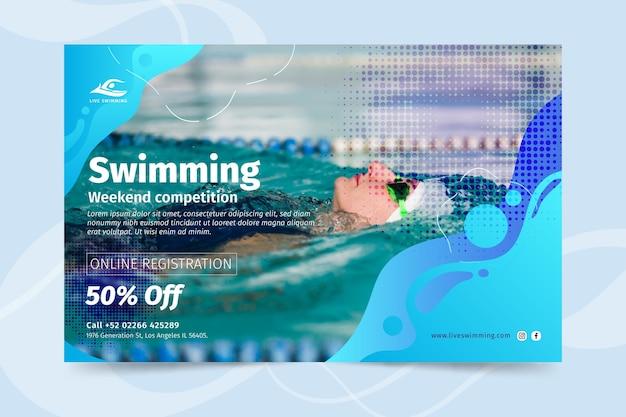 Concepto de banner de natación