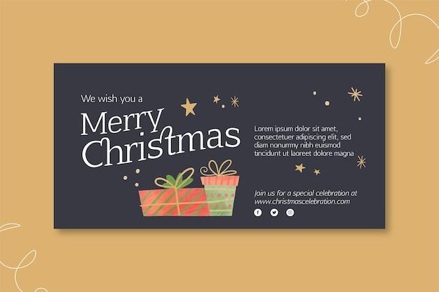 Concepto de banner de navidad