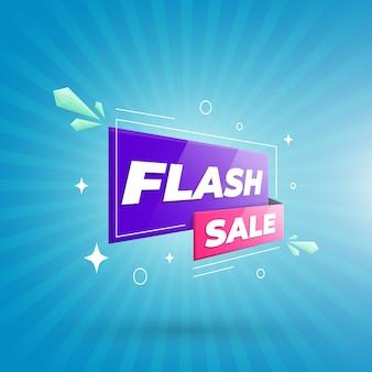 Concepto de banner de oferta de venta flash