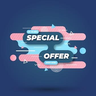 Concepto de banner de venta de oferta especial de memphis