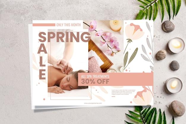 Concepto de banner de venta de primavera