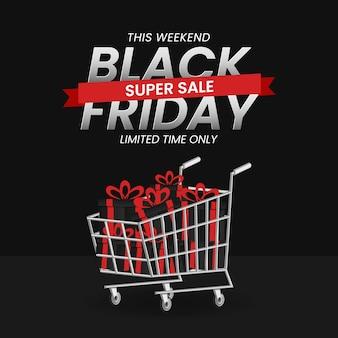 Concepto de banner de venta de viernes negro.